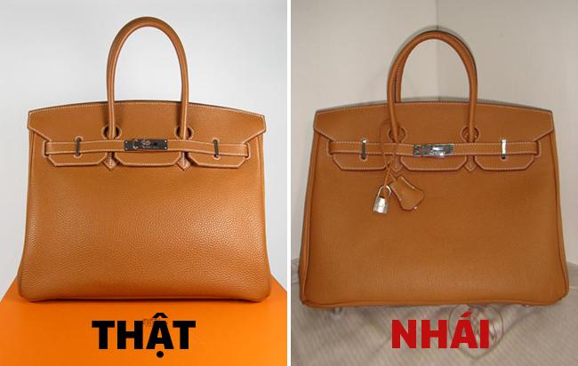 cách phân biệt túi xách thật giả
